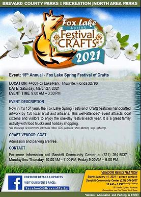 Fox Lake Spring Festival of Crafts 2021