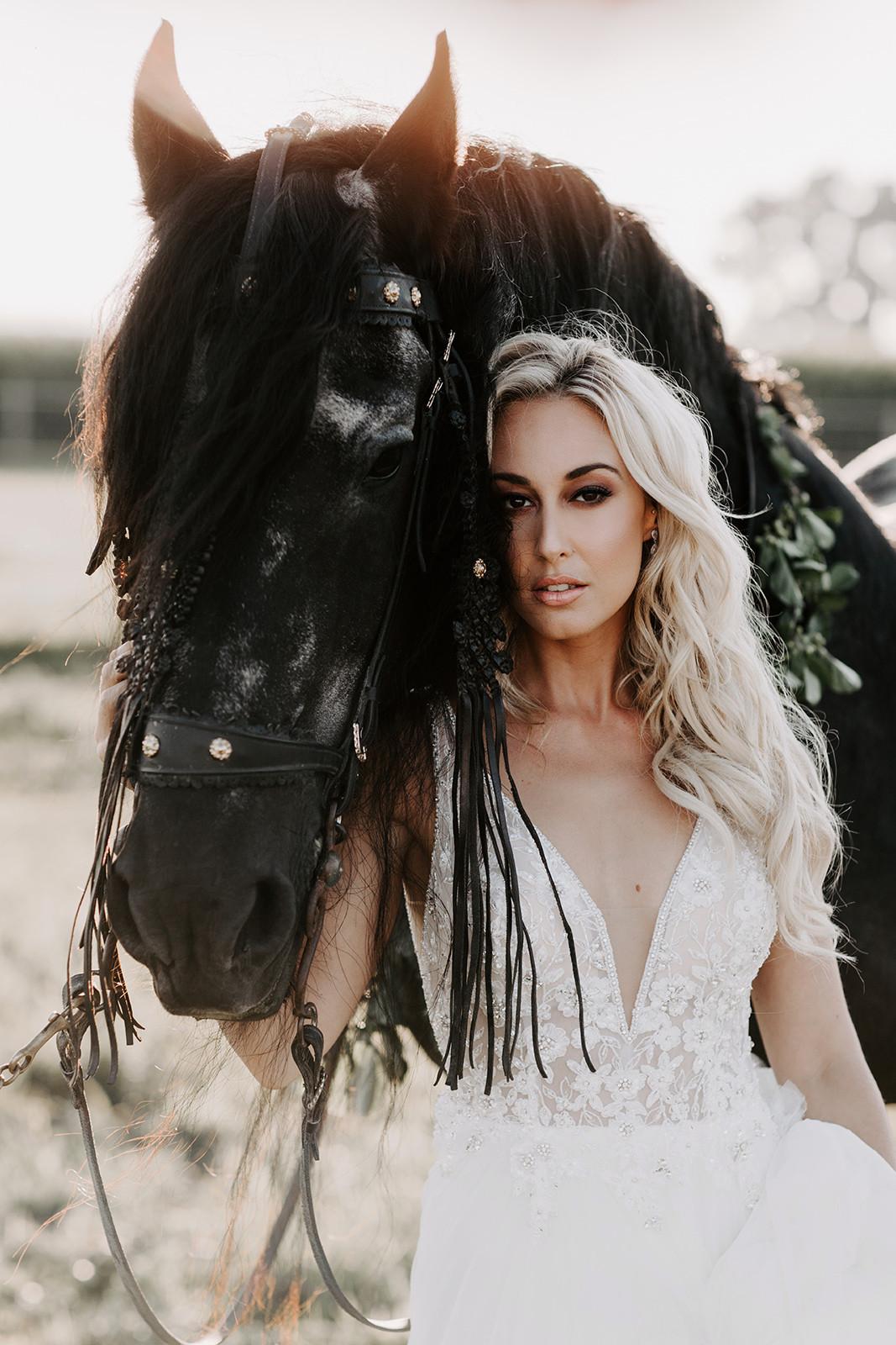 makeup, hair, boho, bridal