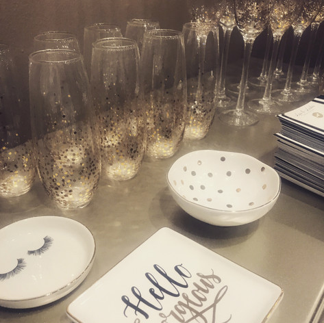 champagne wedding day