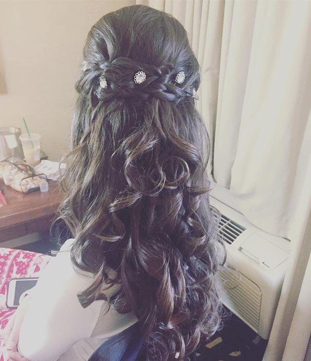 Bridesmaid Hair for days 😍😍 #bridesmai