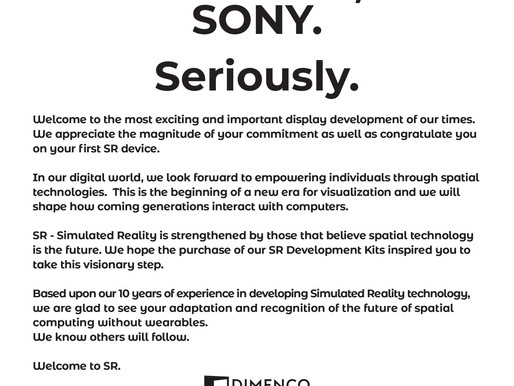 Welcome, SONY. Seriously.