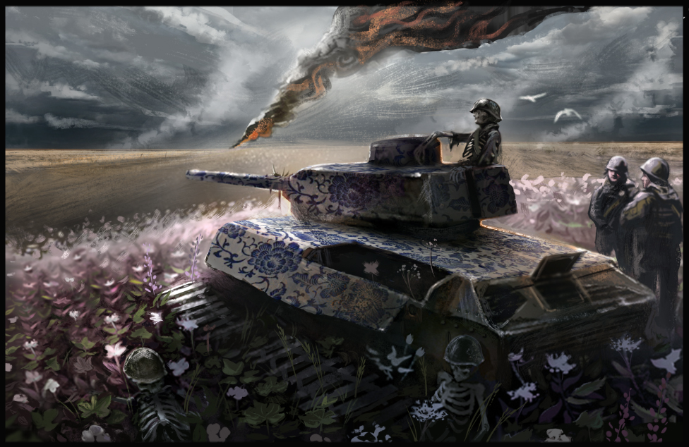 tank, war artwork painting