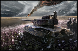 tank, war artwork painting