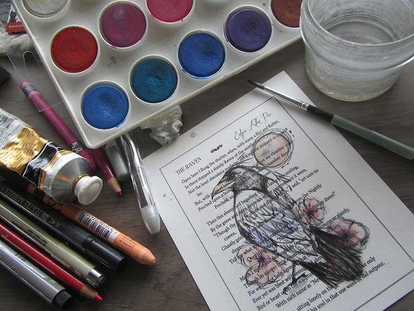 edgar allen poe raven painting art