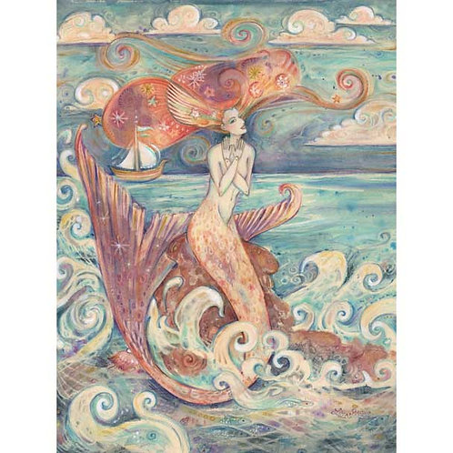 Mermaid Ulysses Muse art print mermaid siren mythology whimsical art