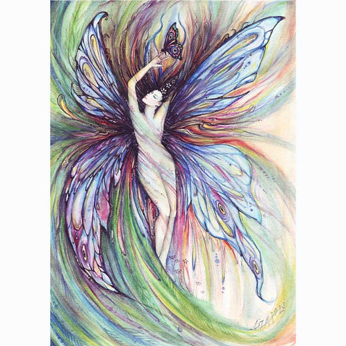 Butterfly fairy art print of a dancing fairy