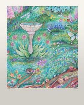 Secret garden nature whimsical art