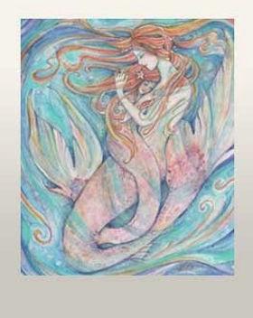 mermaid mother daughter mermaid child gift
