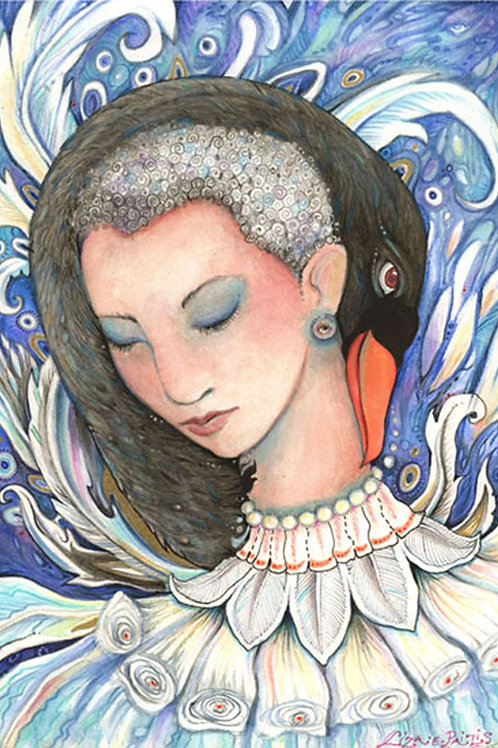 Leda and the Swan art print from the original painting