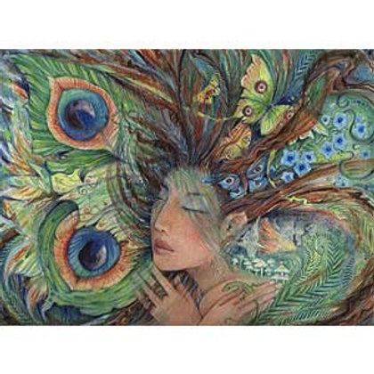 Green Lady fairy goddess art print