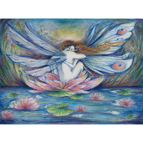 The Lillypond Original Fairy Lovers Painting