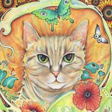 cat art nouveau painting 1.jpg