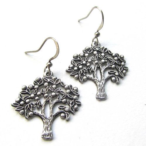 Tree earrings detailed Tree of Life earrings