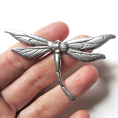 Dragonfly brooch dragonfly pewter pin