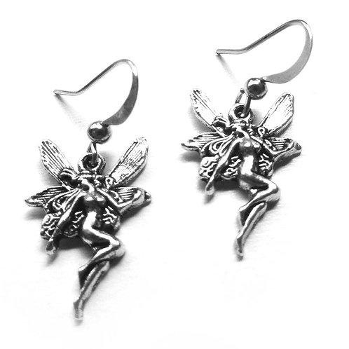 Fairy Earrings unique detailed little fairy charms
