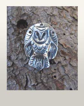 barn owl jewelry owl totem necklace pendant