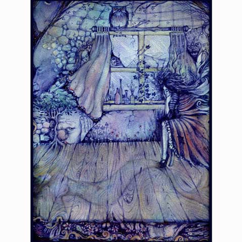 Francescas Room surrealist art print from an original symbolist painting
