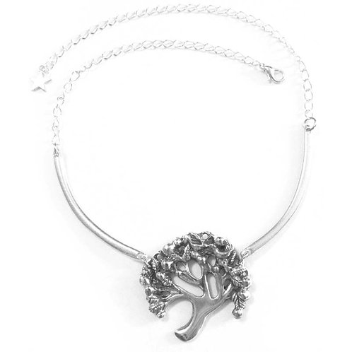 Tree of Life Necklace pewter original handcrafted art Tree jewelry