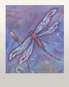 purple dragonfly painting dragonfly art zen dragonfly gift