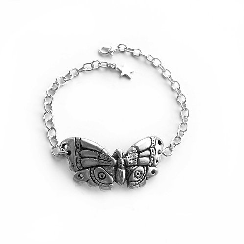 Butterfly bracelet statement jewelry Art Deco Moth bangle