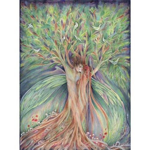Tree Spirit romantic art print from an original painting of lovers