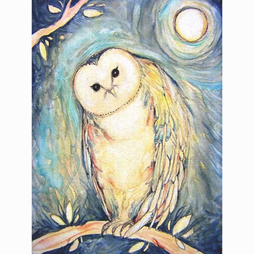 Blue Owl Art print from the original painting
