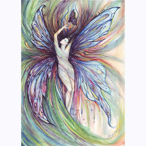 Butterfly Fairy original watercolor painting