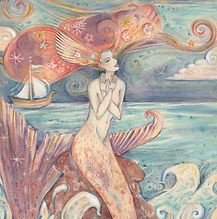 mermaid picture orignal mermid art mermaid and ship