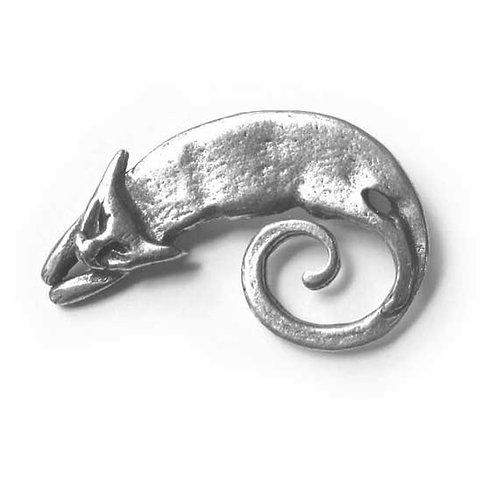 Cat brooch pewter cat pin