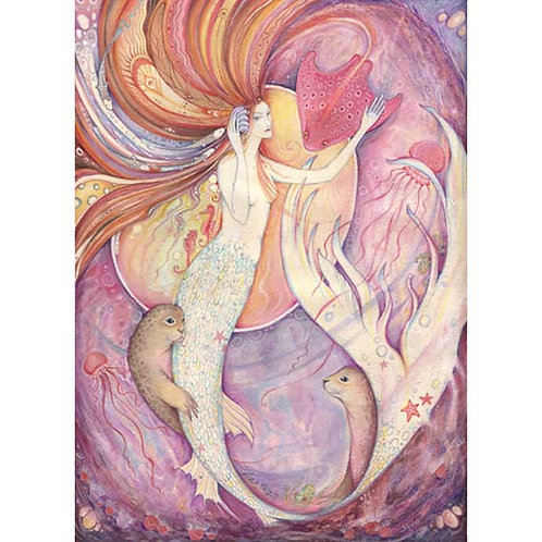 Aqualina Mermaid Art Print from Original Painting mermaid fantasy art