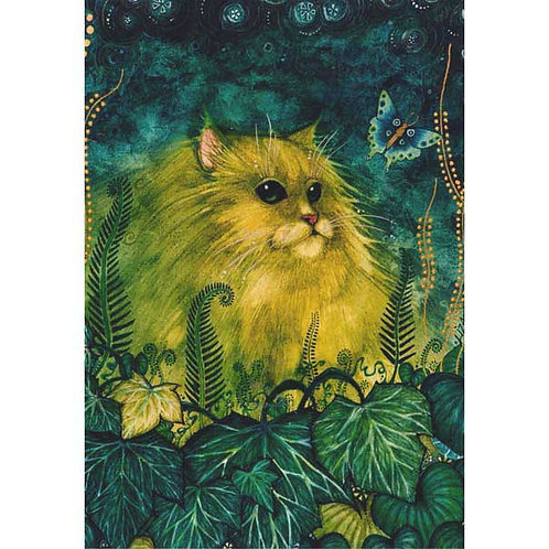 Green Cat fine art print