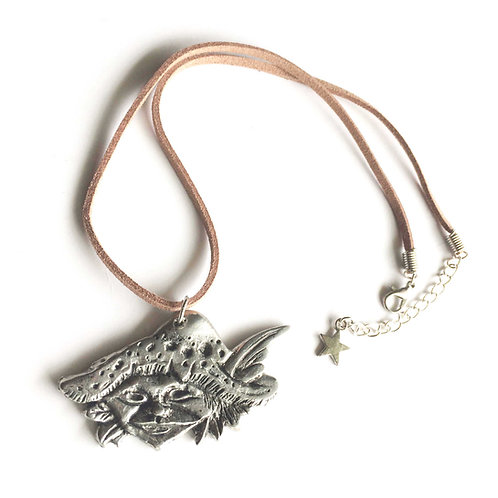 Pixie necklaceElf necklace pewter Pixie pendant