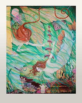 mermaid friends art mermaid sisters picture