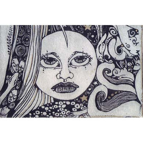 MoonShine Limited Edition Etching moon goddess art