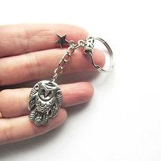 barn owl keychain owl spirit jewelry