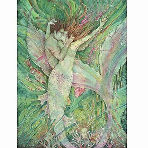 The Mermaid and the Sailor art print mermaid lovers