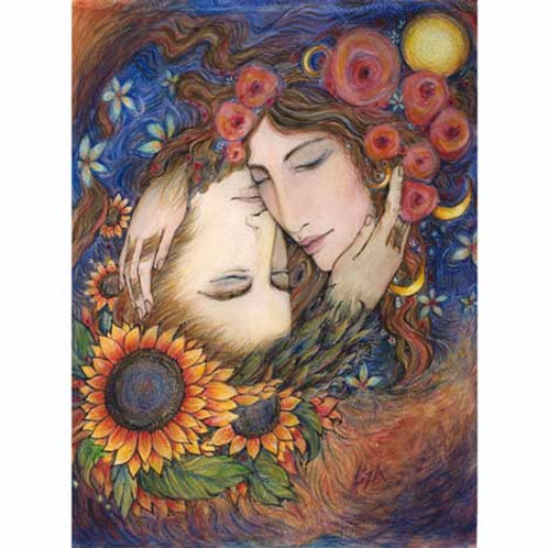 The Sun and the Moon art print of masculine feminine archetypes
