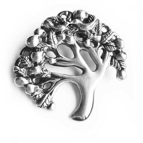 Tree of Life brooch pewter Tree pin