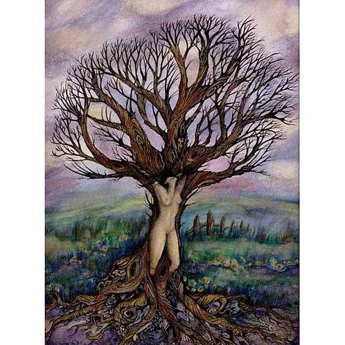 Dryad tree spirit art print tree goddess picture
