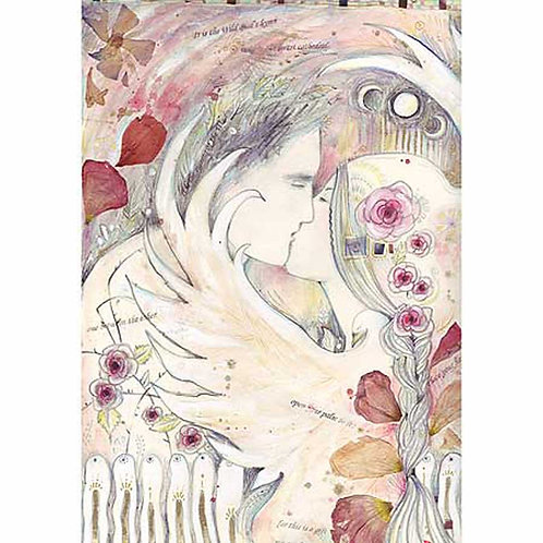 Lovers Tryst romantic art print limited edition lovers art print