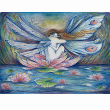 The Lillypond Fairy Lovers art print