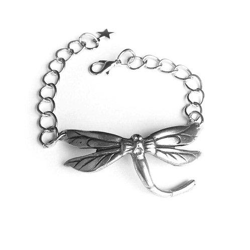 Dragonfly bracelet statement jewelry Art Nouveau dragonfly bracelet