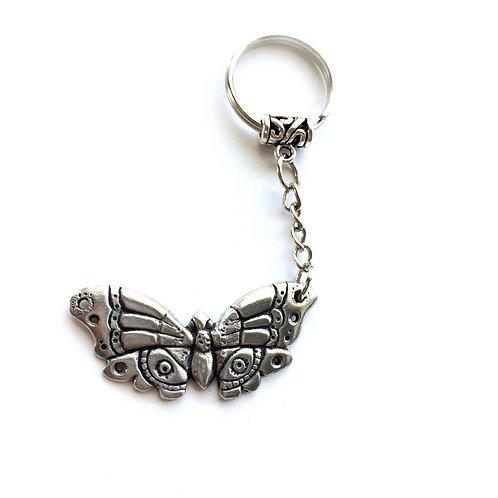 Butterfly Moth keychain keyring keyfob