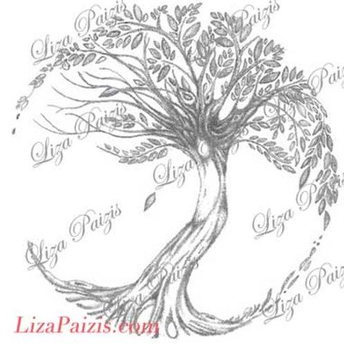 Tree of Life Tattoo design original tree drawing