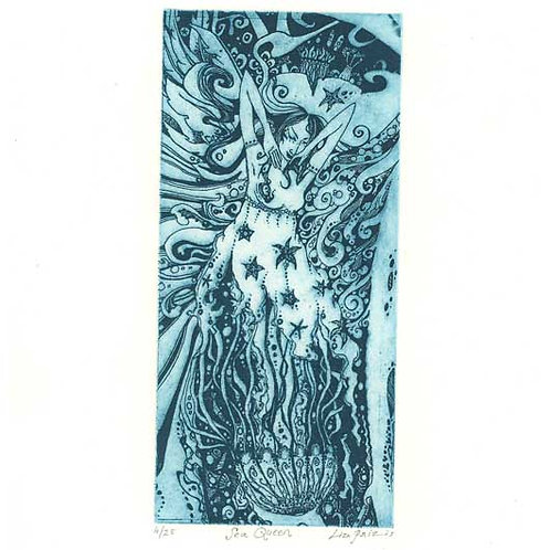 Sea Queen Limited Edition Etching of an Ocean Spirit