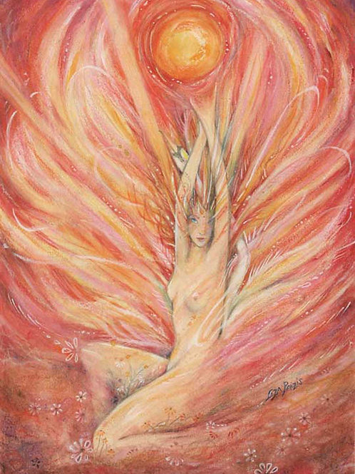 Dawn Goddess Original painting of Aurora