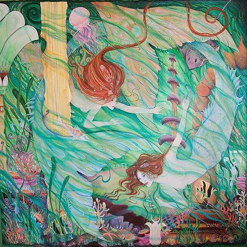 Mermaids in Atlantis art print mermaid fantasy picture