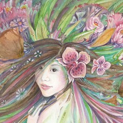 Spring Queen flora painting