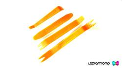 ACCESORIOS LEDIAMOND PALANCAS naranja logo 2