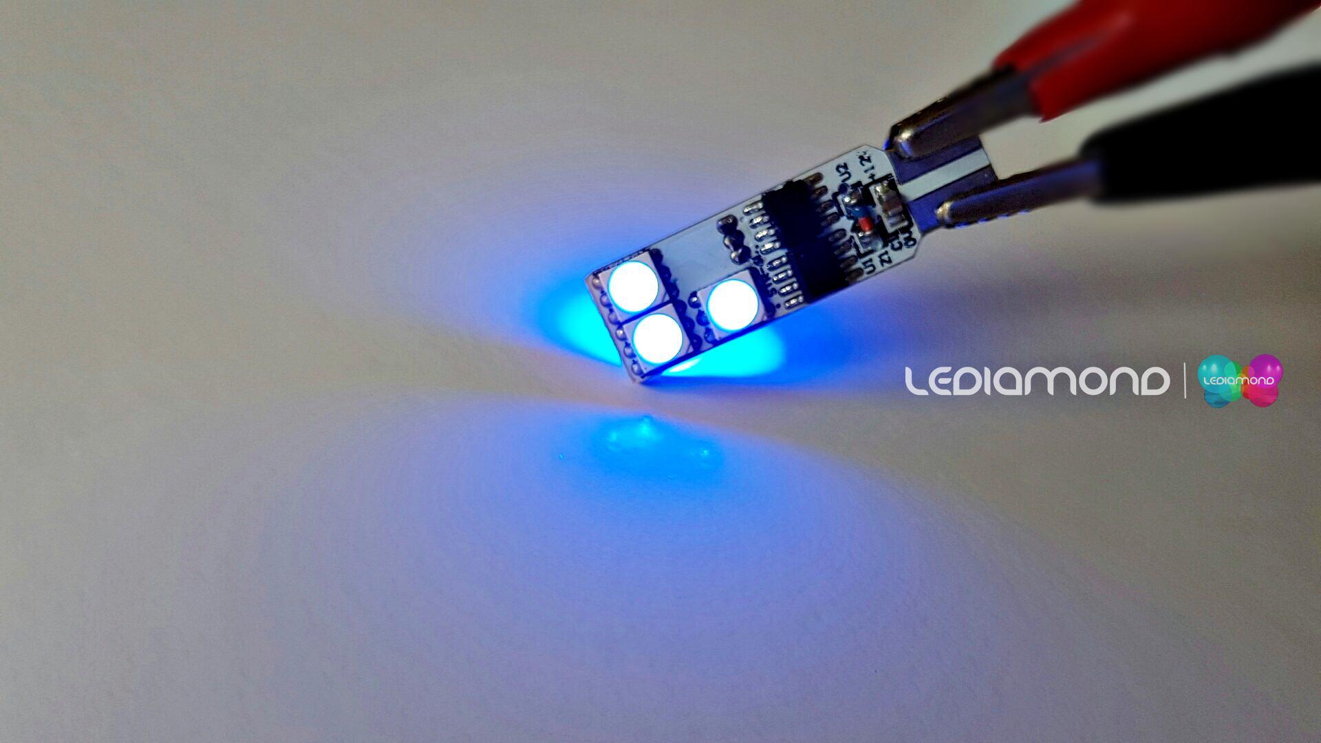 LEDIAMOND RGB CONECTOR T10 6 LED LUZ LOGO2